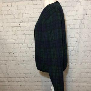Tally Ho Sweaters - Tally Ho Vintage Wool Cardigan Sweater Plaid